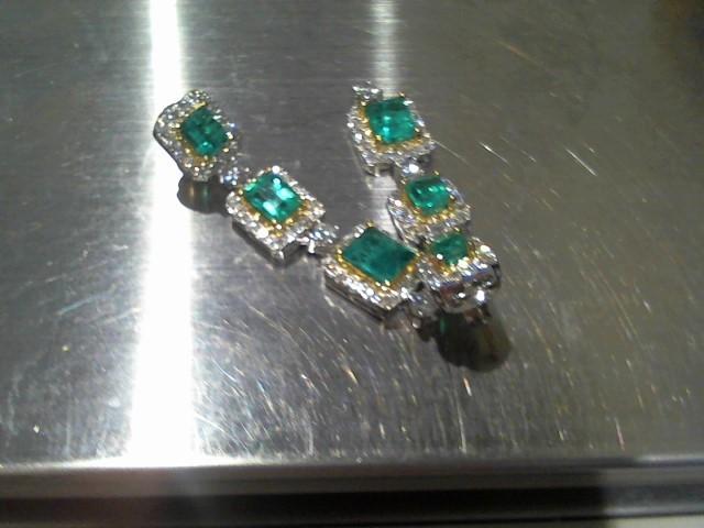 Gold Earrings 18K White Gold 10.5g