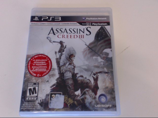 ASSASSIN'S CREED III PS3 GAME