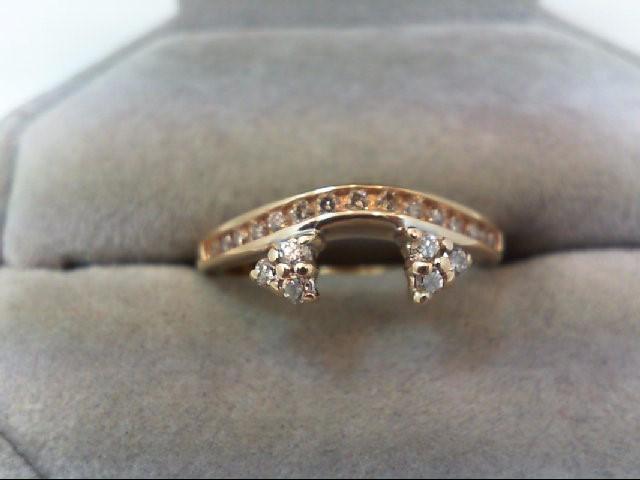 Lady's Gold-Diamond Ring Guard 21 Diamonds .33 Carat T.W. 14K Yellow Gold 2.9g