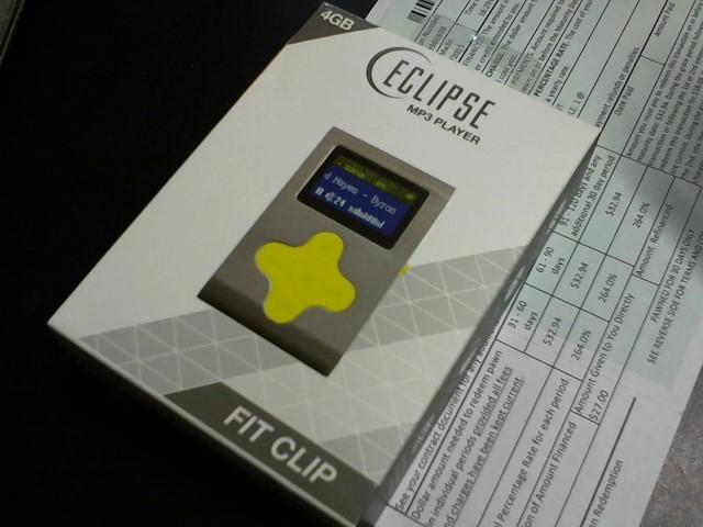 ECLIPSE MP3 4GB MP3 PLAYER