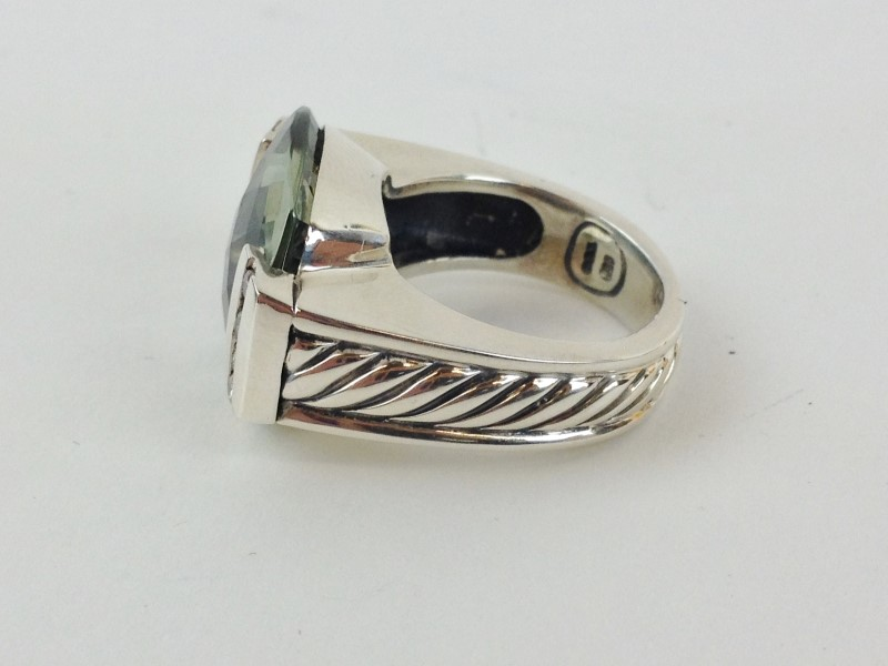 DAVID YURMAN PRASIOLITE DIAMOND LADIES RING
