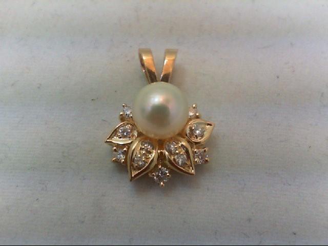 Gold-Multi-Diamond Pendant 11 Diamonds .23 Carat T.W. 14K Yellow Gold 2g