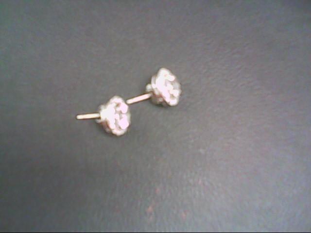 Synthetic Cubic Zirconia Silver-Stone Earrings 925 Silver 2.5g