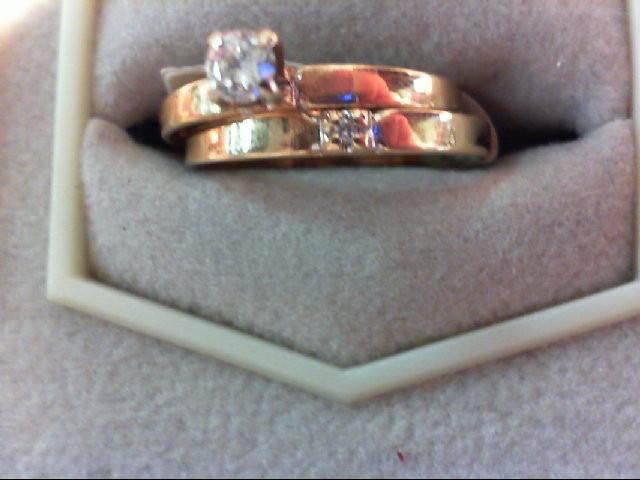Lady's Diamond Wedding Set 2 Diamonds .15 Carat T.W. 14K Yellow Gold 2g