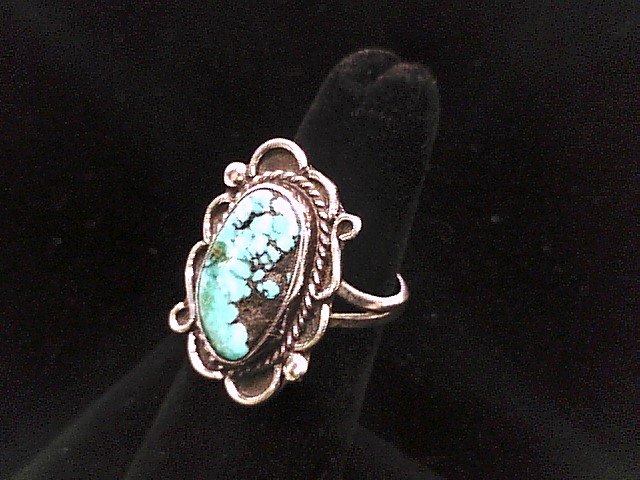 SS 4.5 RING SIZE W/TURQUOISE