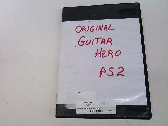 SONY Sony PlayStation 2 GUITAR HERO PLAYSTATION 2