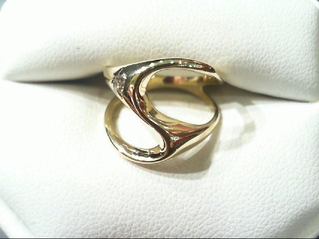 Lady's Diamond Fashion Ring .05 CT. 14K Yellow Gold 3.2g
