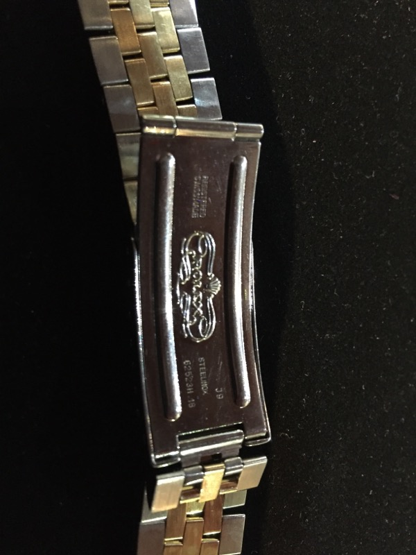 ROLEX STAINLESS AND 18K Y/G WATCH BAND
