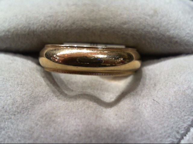 Lady's Gold Wedding Band 14K Yellow Gold 4.9g Size:6.5