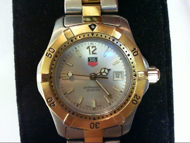 TAG HEUER Lady's Two Tone Wristwatch WK-1320 18k Gold Plated
