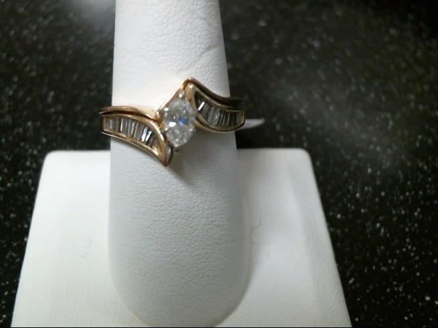Lady's Diamond Wedding Set 17 Diamonds .78 Carat T.W. 14K Yellow Gold 5.4g
