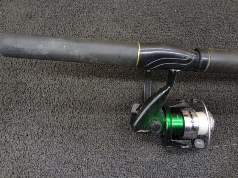 BLACK EAGLE MODEL 200 SPINNING ROD WITH JOHNSON REEL