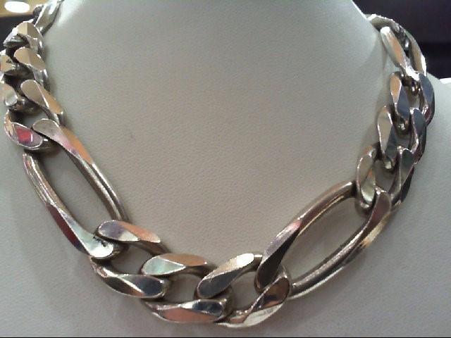 Silver Figaro Chain 925 Silver 145.6g