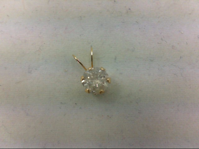Gold-Diamond Solitaire Pendant 0.55 CT. 14K Yellow Gold 0.3g