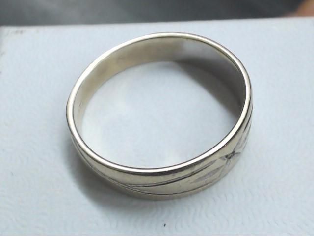 Lady's Gold Wedding Band 14K White Gold 2.8g Size:7