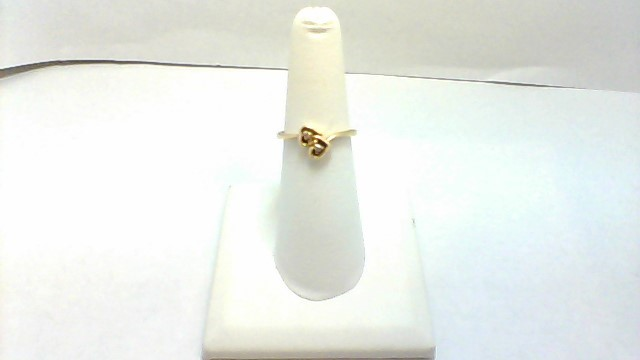 Lady's Diamond Fashion Ring 2 Diamonds .02 Carat T.W. 14K Yellow Gold 2.1g