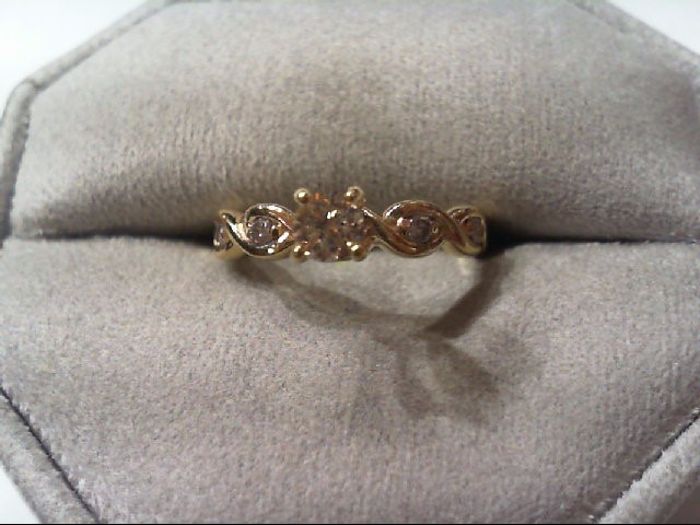 Lady's Diamond Engagement Ring 5 Diamonds .30 Carat T.W. 14K Yellow Gold 2.7g
