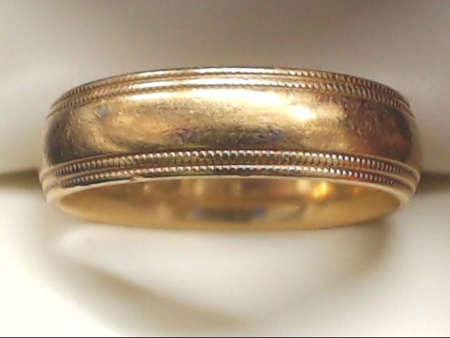 Gent's Gold Wedding Band 14K Yellow Gold 8g Size:10