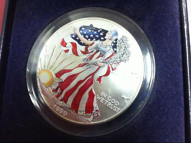 1999 COLORED SILVER EAGLE