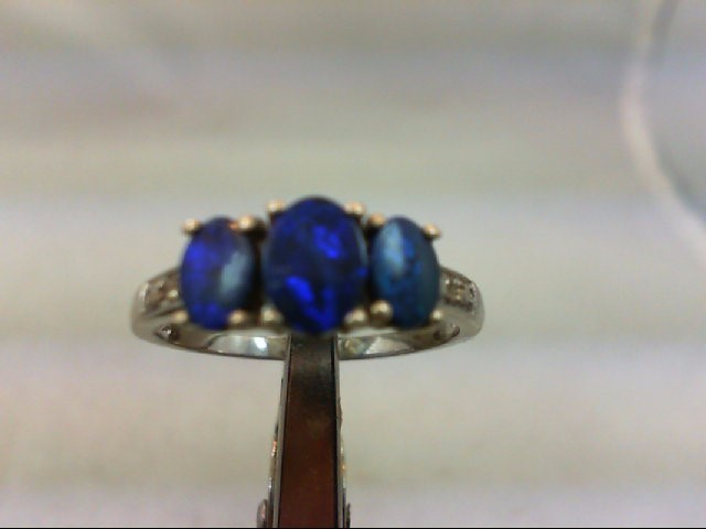Opal Lady's Silver & Stone Ring 925 Silver 5.9g