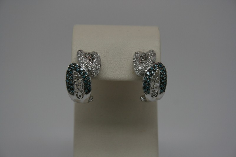 CLUTER DIAMOND EARRINGS 14K WG