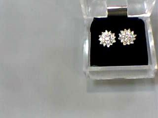 Gold-Diamond Earrings 38 Diamonds .80 Carat T.W. 14K 2 Tone Gold 1.7dwt