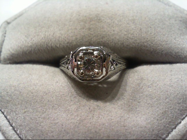 Lady's Diamond Engagement Ring .40 CT. 18K White Gold 2.23g