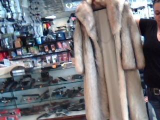 FLETCHER & BENSKY Clothing LONG FULL LENGTH BLUE FOX