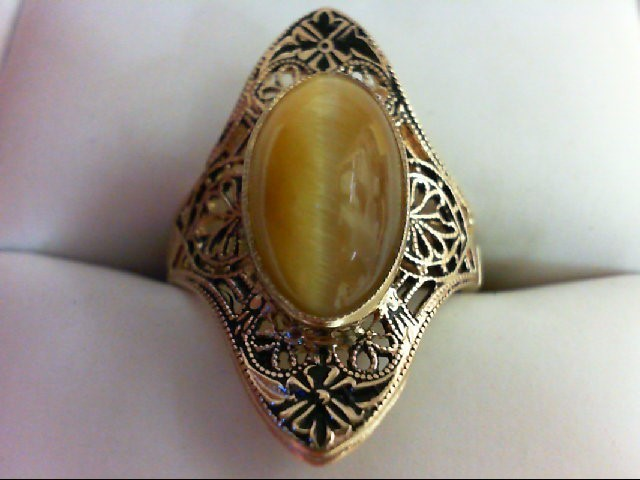 Lady's Gold Ring 10K Yellow Gold 3.3g Size:6