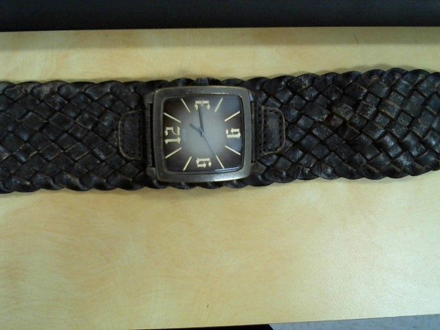 GUESS Lady's Wristwatch LEATHER BAND