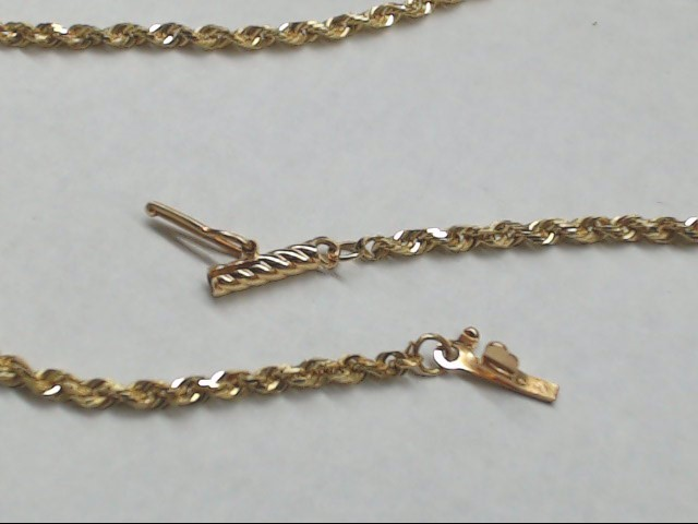 "18"" Gold Rope Chain 14K Yellow Gold 5.6g"