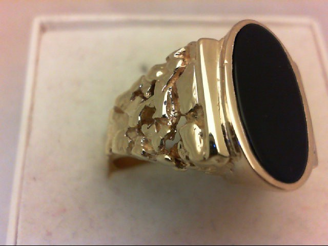 Onyx Gent's Stone Ring 14K Yellow Gold 10.7g