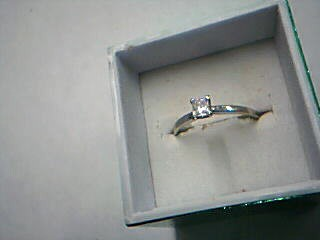Lady's Diamond Engagement Ring .30 CT. 14K White Gold 1.36g