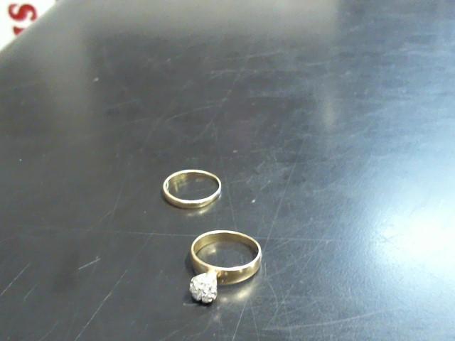 Lady's Diamond Wedding Set 7 Diamonds .21 Carat T.W. 14K Yellow Gold 3.69g