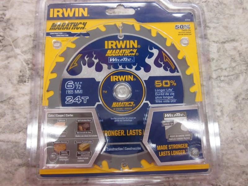 """IRWIN 24T 6.5"""" MARATHON WELDTEC SAW BLADE"""