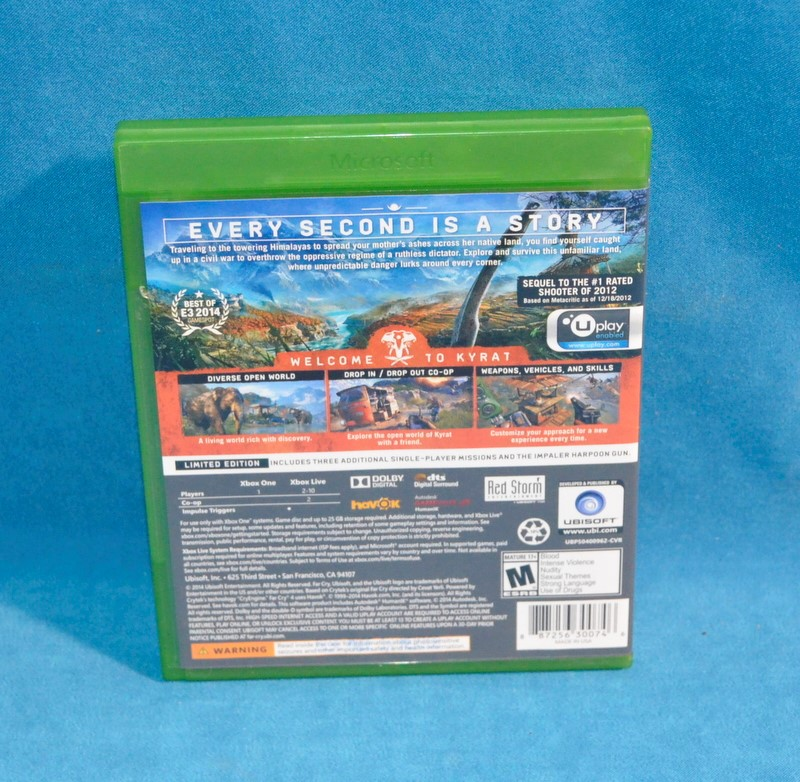 XBOX ONE GAME FARCRY 4 LIMITED EDITION