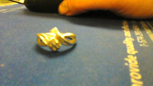 Lady's Diamond Cluster Ring 13 Diamonds .16 Carat T.W. 10K White Gold 3.3g