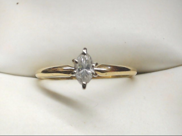 Lady's Diamond Solitaire Ring .20 CT. 14K Yellow Gold 1.5g Size:6