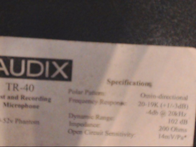 AUDIX Microphone TR-40
