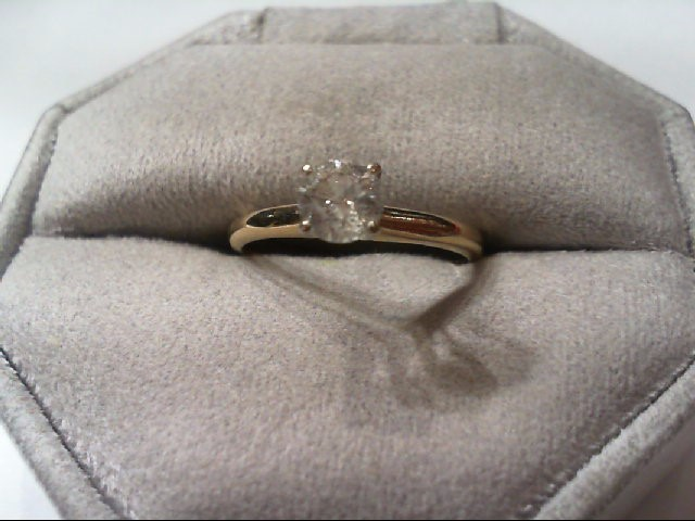 Lady's Diamond Solitaire Ring .55 CT. 14K Yellow Gold 2.2g