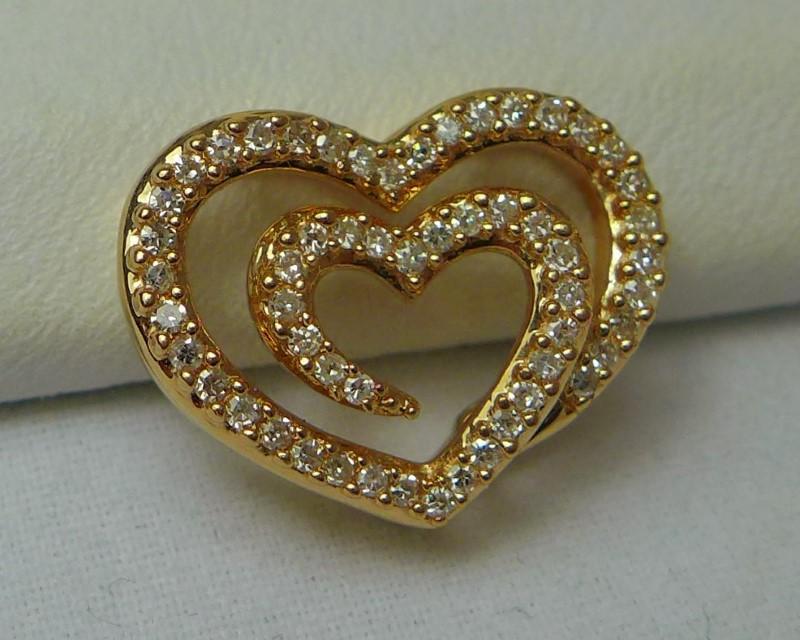 Gold-Multi-Diamond Pendant 50 Diamonds .50 Carat T.W. 14K Yellow Gold 1.9g