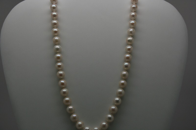 PEARL NECKLACE WITH 14K YG CLASP