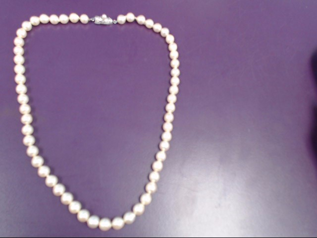 Pearl Stone Necklace 925 Silver 25.2g
