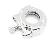 BIKER'S CHOICE 491255; CHROME THROTTLE CLAMP - SINGLE-