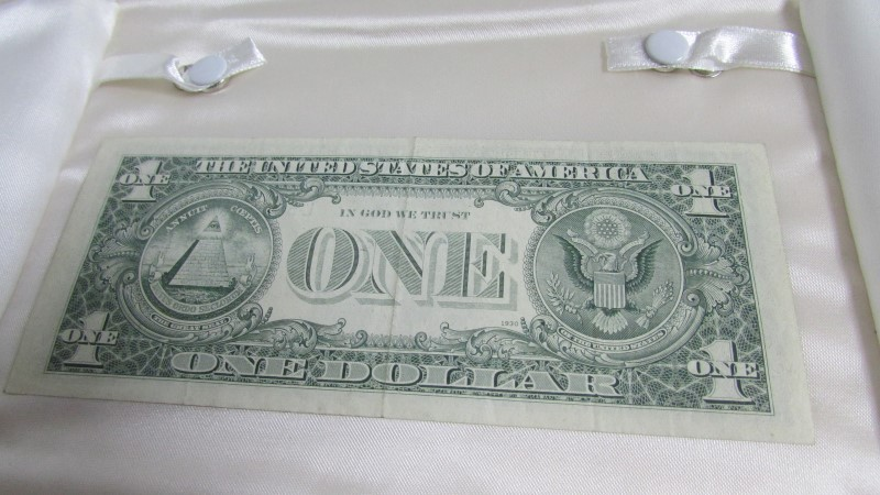 1  dollar bill partial offset, 1974