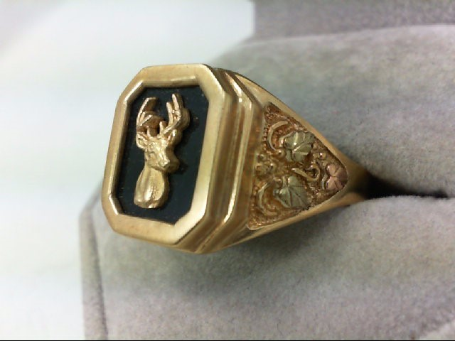 Gent's Gold Ring 10K Tri-color Gold 8.4g Size:12
