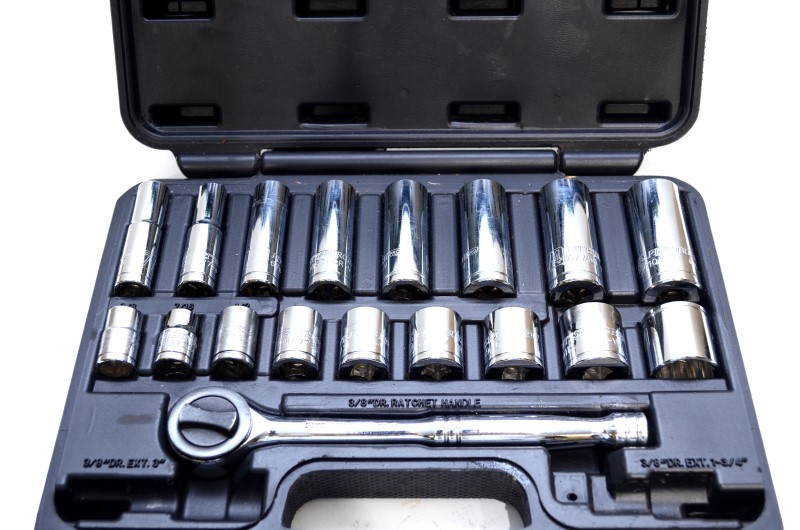 PITTSBURGH PRO 18PC SAE SOCKET Ratchet SET ~Fast Free Shipping!~