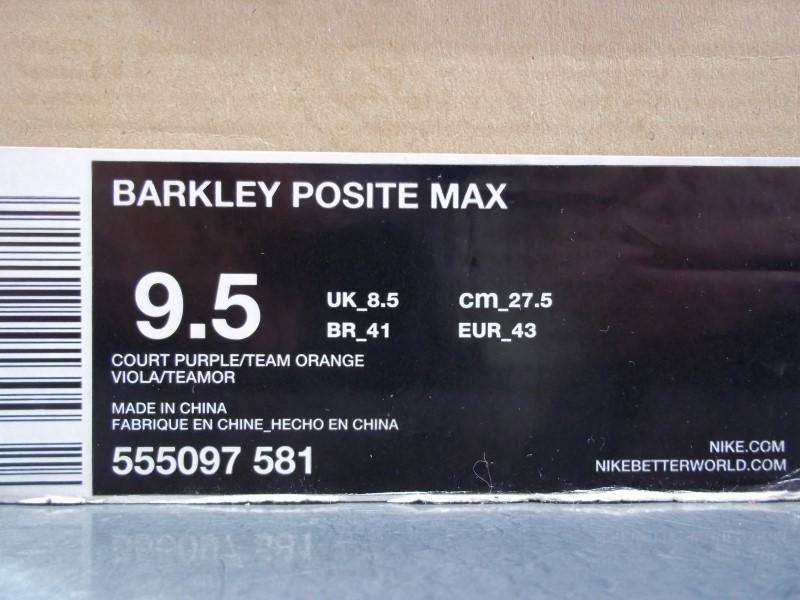NIKE BARKLEY POSITE MAX SIZE 9.5 MENS