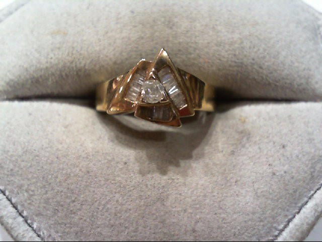 Lady's Diamond Fashion Ring 15 Diamonds .24 Carat T.W. 10K Yellow Gold 3.1g