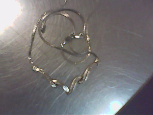 Diamond Necklace 41 Diamonds .280 Carat T.W. 925 Silver 6g
